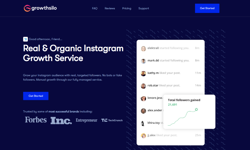 Growthsilo - Instagram Growth Service