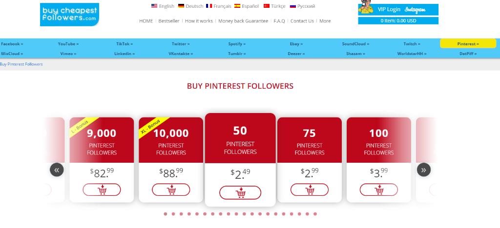 Buy Cheapest Followers